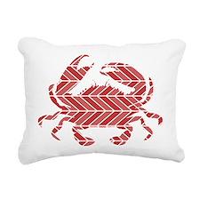 Chevron Crab Rectangular Canvas Pillow