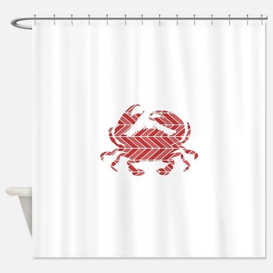 Chevron Crab Shower Curtain