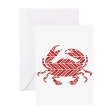 Chevron Crab Greeting Cards