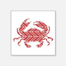 Chevron Crab Sticker