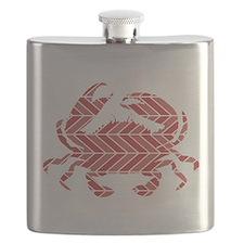Chevron Crab Flask