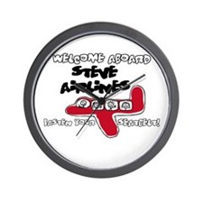 Steve Airlines Wall Clock