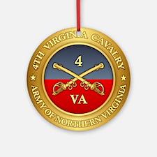 4th Virginia Cavalry Round Ornament