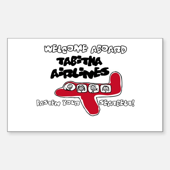 Tabitha Airlines Rectangle Decal