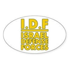 IDF Israel Defense Forces2 - Yellow Decal