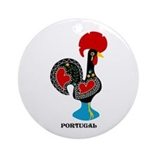Portuguese Rooster of Luck Ornament (Round)