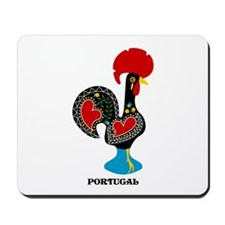 Portuguese Rooster of Luck Mousepad