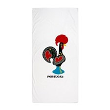 Portuguese Rooster of Luck Beach Towel