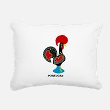 Portuguese Rooster of Luck Rectangular Canvas Pill