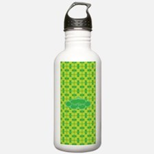 Lime and Green Pattern Water Bottle