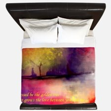 Golden Tree King Duvet