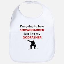 Snowboarder Like My Godfather Bib