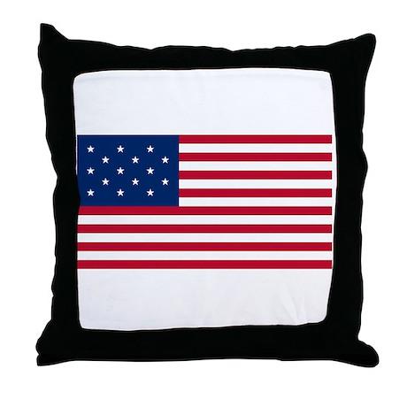 15 Star US Flag Throw Pillow
