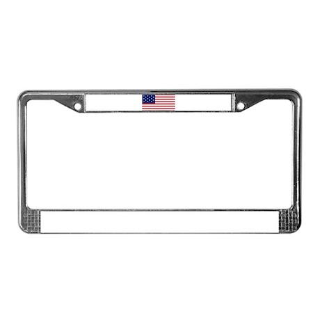 15 Star US Flag License Plate Frame