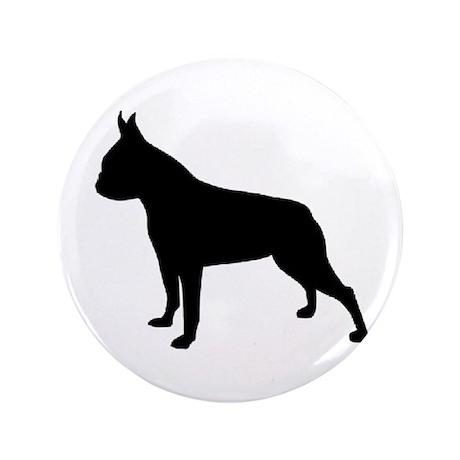 "boston terrier black 2 3.5"" Button"