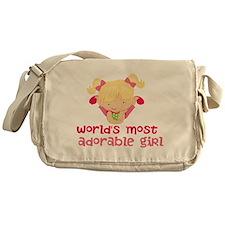 Worlds Most Adorable Girl Messenger Bag