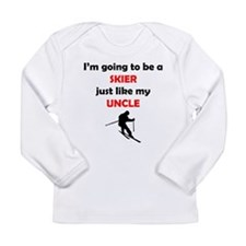 Skier Like My Uncle Long Sleeve T-Shirt