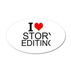 I Love Story Editing Wall Decal