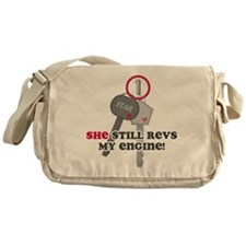 She Revs My Engine 1 Messenger Bag
