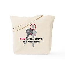 She Revs My Engine 1 Tote Bag
