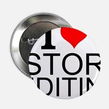 """I Love Story Editing 2.25"""" Button (100 pack)"""