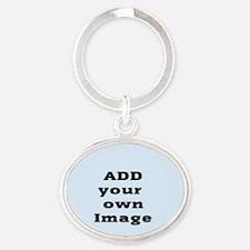 Add Image Oval Keychain