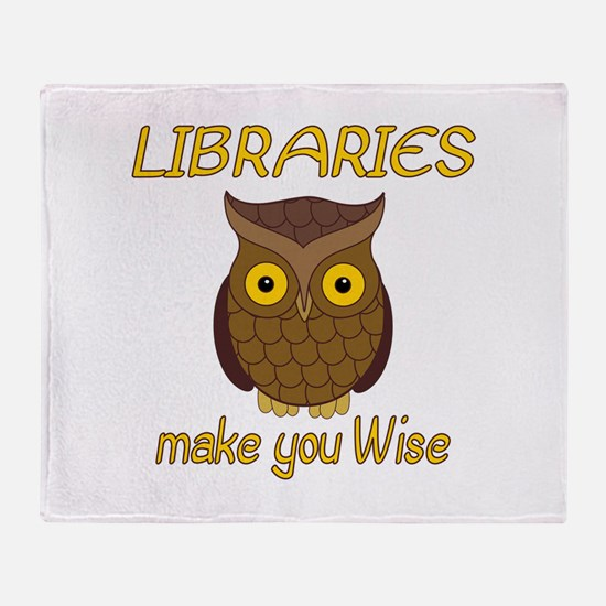 Library Wise Throw Blanket