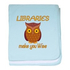 Library Wise baby blanket