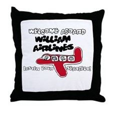 William Airlines Throw Pillow