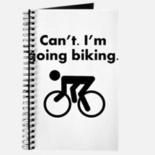 Cant Im Going Biking Journal