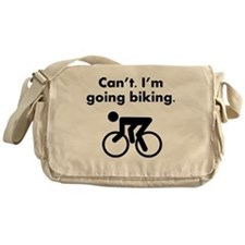 Cant Im Going Biking Messenger Bag