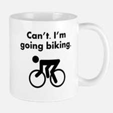 Cant Im Going Biking Mugs