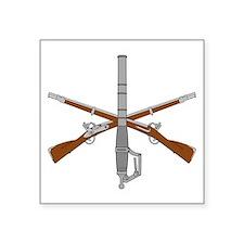 60mm w Crossed Rifles v2 Sticker