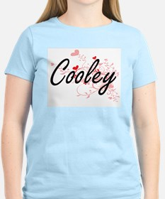Cooley Artistic Design with Hearts T-Shirt