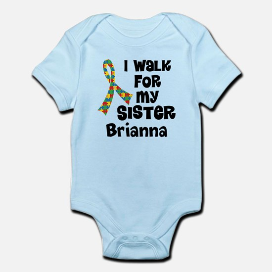 Autism Sister Personalized Body Suit