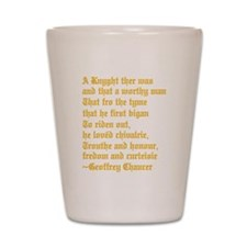 Chaucer's Knight Shot Glass