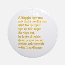 Chaucer's Knight Ornament (Round)