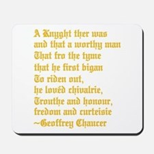 Chaucer's Knight Mousepad
