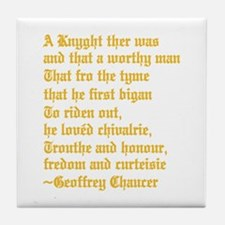 Chaucer's Knight Tile Coaster