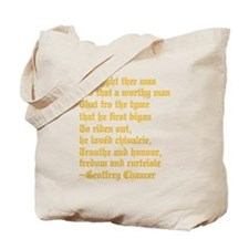 Chaucer's Knight Tote Bag