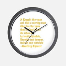 Chaucer's Knight Wall Clock