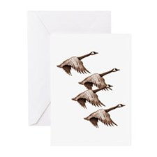 Canada Geese Flying Greeting Cards (Pk of 10)