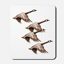 Canada Geese Flying Mousepad