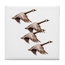 Canada Geese Flying Tile Coaster