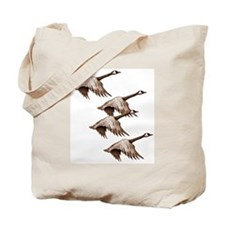 Canada Geese Flying Tote Bag
