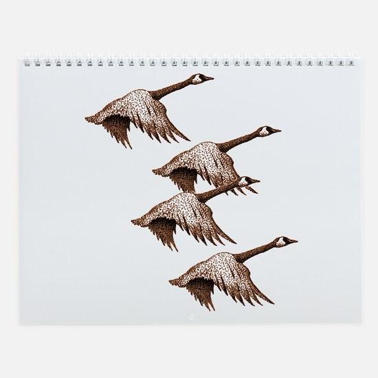 Canada Geese Flying Wall Calendar