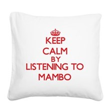 Keep calm and sing Square Canvas Pillow