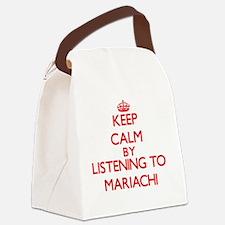 Cute Mariachi Canvas Lunch Bag