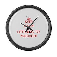 Cute Mariachi Large Wall Clock