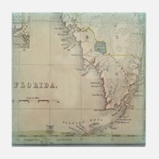 Florida Keys Antique Map Tile Coaster